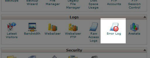 cpanel-error-log